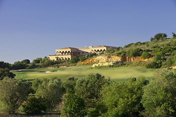 Faldo Clubhouse Bushes at Amendoeira Golf Resort
